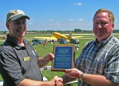 A special thank-you to Tom Gunnarson, former LAMA president and past FAA employee for his substantial help in support of LAMA's mission of advocacy.(shown accepting the LAMA President's Award in 2010)
